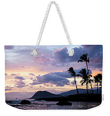 Weekender Tote Bag featuring the photograph Island Silhouettes  by Heather Applegate