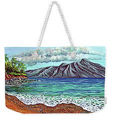 Island Time Weekender Tote Bag by Debbie Chamberlin