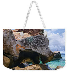 Island Virgin Gorda The Baths Weekender Tote Bag