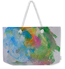 Weekender Tote Bag featuring the painting Islandcolors by Fred Wilson
