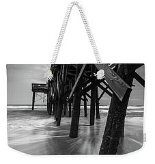 Isle Of Palms Pier Water In Motion Weekender Tote Bag