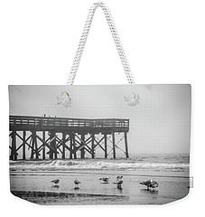 Isle Of Palms Pier And Fog Weekender Tote Bag