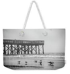 Isle Of Palms Pier And Fog Weekender Tote Bag