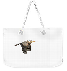 Weekender Tote Bag featuring the photograph Isolated Great Blue Heron 2015-5 by Thomas Young