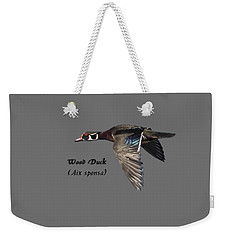 Isolated Wood Duck 2017-1 Weekender Tote Bag by Thomas Young