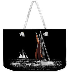Isolated Yacht Carrick Roads On A Transparent Background Weekender Tote Bag