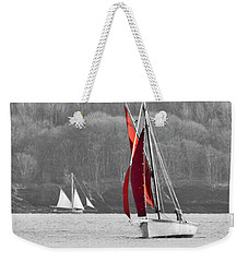 Isolated Yacht Carrick Roads Weekender Tote Bag
