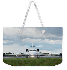 Weekender Tote Bag featuring the photograph Israel Aircraft Industries Galaxy 1 by Guy Whiteley
