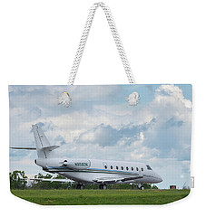 Weekender Tote Bag featuring the photograph Israel Aircraft Industries Galaxy 2 by Guy Whiteley