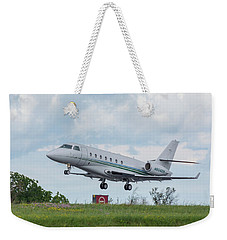 Weekender Tote Bag featuring the photograph Israel Aircraft Industries Galaxy 3 by Guy Whiteley