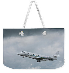 Weekender Tote Bag featuring the photograph Israel Aircraft Industries Galaxy 4 by Guy Whiteley