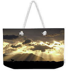 Israeli Desert Sunrise At Timna Weekender Tote Bag by Yoel Koskas