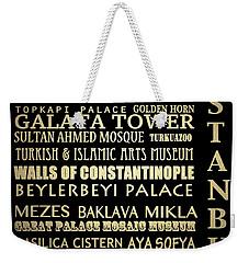 Istanbul Turkey Famous Landmarks Weekender Tote Bag