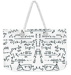 Weekender Tote Bag featuring the drawing It Figures... by ReInVintaged