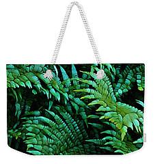 It Greens So Green ... Fern Abstract  Weekender Tote Bag