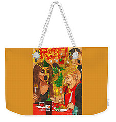 It Happened In A Restaurant Weekender Tote Bag by Don Pedro De Gracia