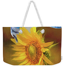 Weekender Tote Bag featuring the photograph It Is All About The Seeds by Janette Boyd