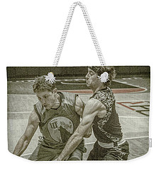 Weekender Tote Bag featuring the photograph It Is My Ball by Ronald Santini