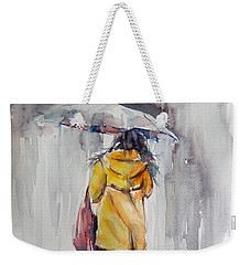 It Is Raining Weekender Tote Bag