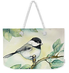 Weekender Tote Bag featuring the painting It Is So Cute by Inese Poga