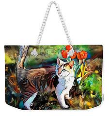 Weekender Tote Bag featuring the digital art It Must Be Spring by Pennie McCracken