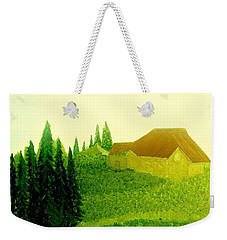 Weekender Tote Bag featuring the painting It Rained And It Rained by Bill OConnor