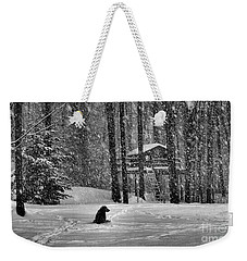 It Was A Dark And Stormy Night Weekender Tote Bag