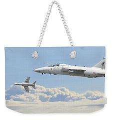 Weekender Tote Bag featuring the digital art Italian Air Force - Ghibli by Pat Speirs