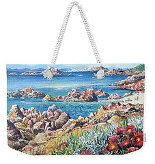 Italian Coastline Weekender Tote Bag by Lou Ann Bagnall