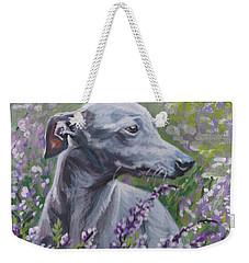 Italian Greyhound In Flowers Weekender Tote Bag