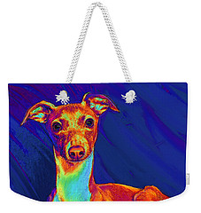 Italian Greyhound  Weekender Tote Bag by Jane Schnetlage