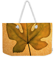 Weekender Tote Bag featuring the photograph Italian Honey Fig Leaf 4 by Frank Wilson