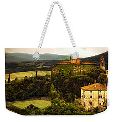 Italian Castle And Landscape Weekender Tote Bag by Marilyn Hunt