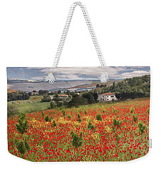 Italian Poppy Field Weekender Tote Bag
