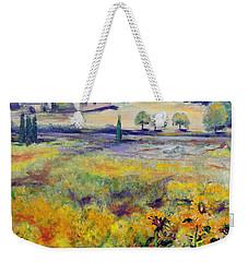 Italian Sunflowers Weekender Tote Bag by Jodie Marie Anne Richardson Traugott          aka jm-ART