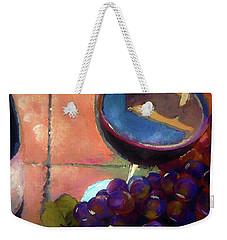 Italian Tile And Fine Wine Weekender Tote Bag by Lisa Kaiser