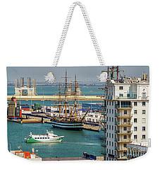 Weekender Tote Bag featuring the photograph Italian Training Ship Amerigo Vespucci Cadiz Spain by Pablo Avanzini