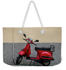 Italian Transportation Weekender Tote Bag by Jean Haynes