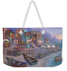 Italy Tuscan Decor Painting Seascape Village By The Sea Weekender Tote Bag