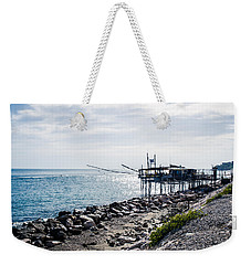 Italy - The Trabocchi Coast 2  Weekender Tote Bag by Andrea Mazzocchetti