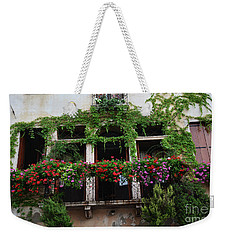 Weekender Tote Bag featuring the photograph Italy Veneto Marostica Main Square by Frank Stallone