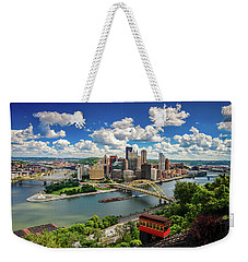 Weekender Tote Bag featuring the photograph It's A Beautiful Day In The Neighborhood by Emmanuel Panagiotakis