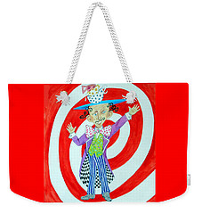 It's A Mad, Mad, Mad, Mad Tea Party -- Humorous Mad Hatter Portrait Weekender Tote Bag