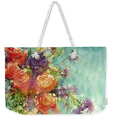 It's A Teal World Weekender Tote Bag by Judith Levins