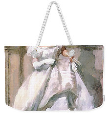 Weekender Tote Bag featuring the digital art It's All About The Dress by Pennie McCracken