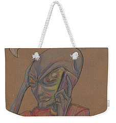Weekender Tote Bag featuring the drawing It's Brown by Similar Alien