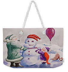 It's Cold Grandpa Weekender Tote Bag by Geni Gorani