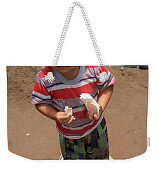 Weekender Tote Bag featuring the photograph It's Good For Me by Jez C Self