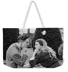 It's In The Eyes Bw Weekender Tote Bag