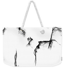 Weekender Tote Bag featuring the painting Its Just A Little Sketch by Frances Marino